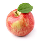 Apple med blad — Stockfoto