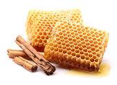 Honeycombs with cinnamon — Stock Photo
