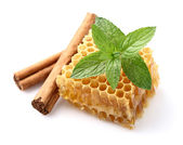 Honeycomb with spices — Stock Photo