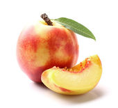 Nectarine with slice — Stock Photo