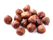 Dried kernels of hazelnuts — Stock Photo