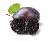 Prune with plum — Stock Photo