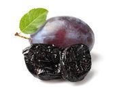 Prune with plum — Stock Photo