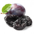 Plums with prunes — Stock Photo