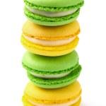 macarrones de verdes y amarillos — Foto de Stock