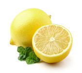 Lemon with mint — Stock Photo