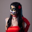 Woman with sugar skull make-up — Stock Photo #12014767