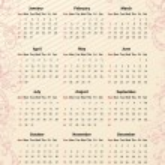 American Vector pink calendar 2012 — Stock Vector #12901747