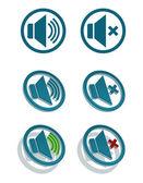 Vector simple speaker icons — Stock Vector
