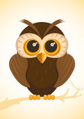 Vector cute owl — Stock Vector