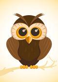 Vector cute owl — Stock Vector