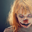 Creepy bloody zombie face — Stock Photo