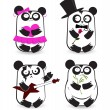 Vector set of pandas — Stock Vector #22867544