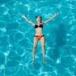 Young woman in swimming pool  — Stock Photo