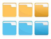 Vector set of folder icons — Stock Vector