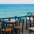 Outdoors cafe, sea view — Stok fotoğraf