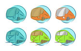 Vector set of vehicle icons — Stock Vector