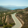 Serpentine road on island Crete, Greece — Stock Photo