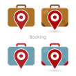 Vector set of booking icons — Stock Vector #37293669