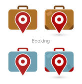 Vector set of booking icons — Stock Vector