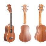 Set of 5 ukulele guitars — Stock Photo