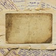 Vintage postcard and letters — Stockfoto