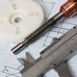 Rotor of electromotor and  drawing - Photo