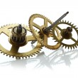 Clockwork gears isolated on white — Stock Photo #12757587