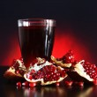 Pomegranate juice and Red pomegranate fruit — Stock Photo #12804938