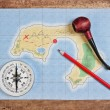 Stock Photo: Maps of coral islands