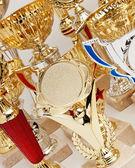 Many sports awards — Stock Photo