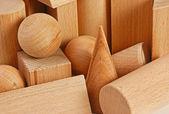 Wooden geometric shapes — Stock Photo