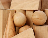 Wooden geometric shapes — Stock Photo