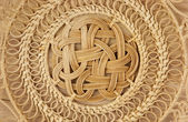 Basket wicker is handmade background — Stock Photo