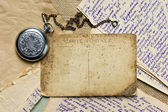 Vintage postcard and letters — Stock Photo