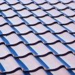 Stock Photo: Blue metal tile roof, background