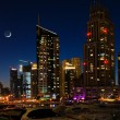 Dubai Marina at night. United Arab Emirates - Stock Photo
