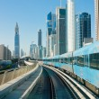 Subway tracks in the united arab emirates - Stock fotografie