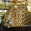Stock Photo: Biggest gold ring in DeirGold Souq weighs 63.85kg.
