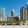 Panorama of Dubai Marina, view from the bay — Stock Photo