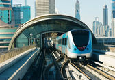 Subway tracks in the united arab emirates — Stockfoto