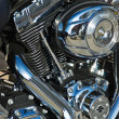 Close-up motorcycle engine - Stock Photo