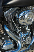 Close-up motorcycle engine — Photo