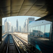 Subway tracks in the united arab emirates - 图库照片