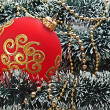 Royalty-Free Stock Photo: Christmas ball on Christmas background