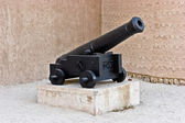 Old cast-iron cannon — Stock Photo