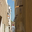 Narrow street in the old Arab town - Stock Photo