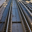 Subway tracks in the united arab emirates - Stok fotoraf