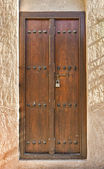 Old wooden Arab door — Stock Photo