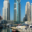 Yacht Club in Dubai Marina, on November 13, 2012, Dubai, UAE. — Stock Photo